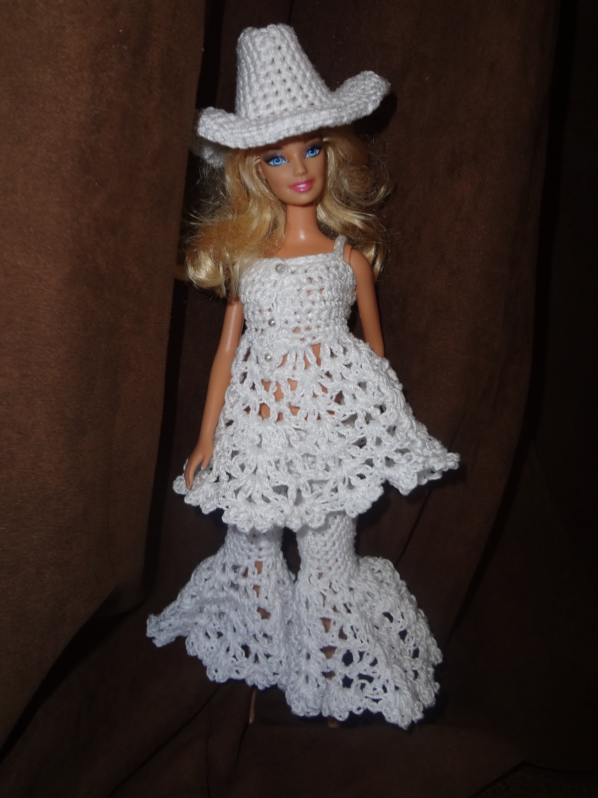 Niftynnifer\'s Crochet & Crafts: The Cowboy Cowgirl Free Barbie Hat ...