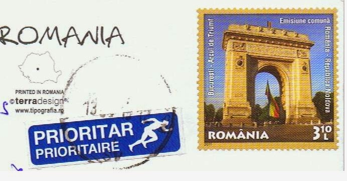 Postcard footprints from around the world greetings from romania a super cool card that came today greetings from romania m4hsunfo