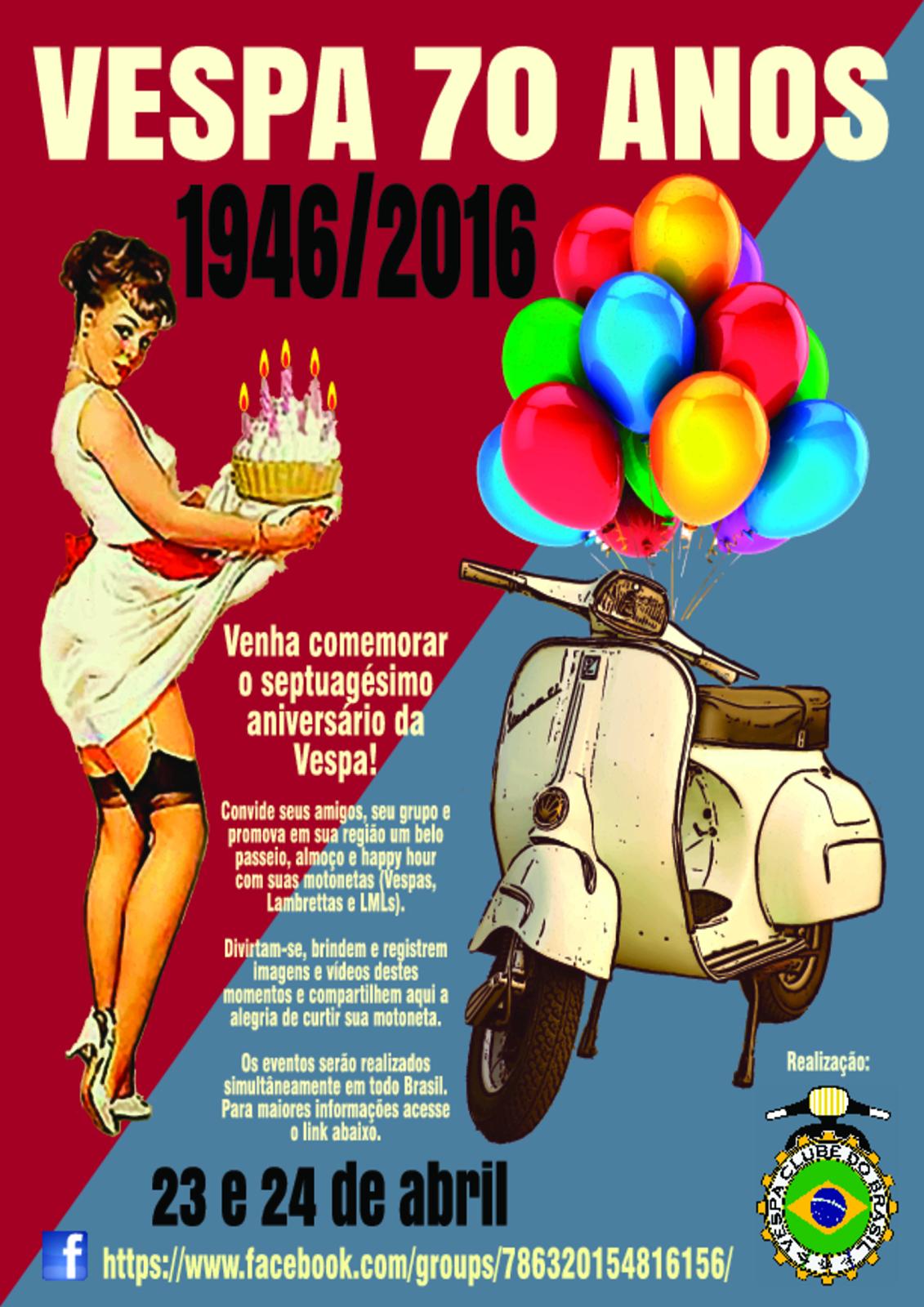 Evento Vespa 70 Anos