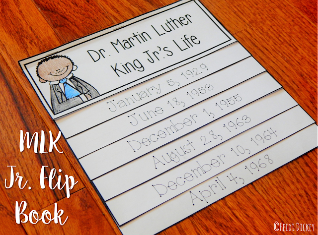https://www.teacherspayteachers.com/Product/Martin-Luther-King-Jr-Flip-Book-1636745