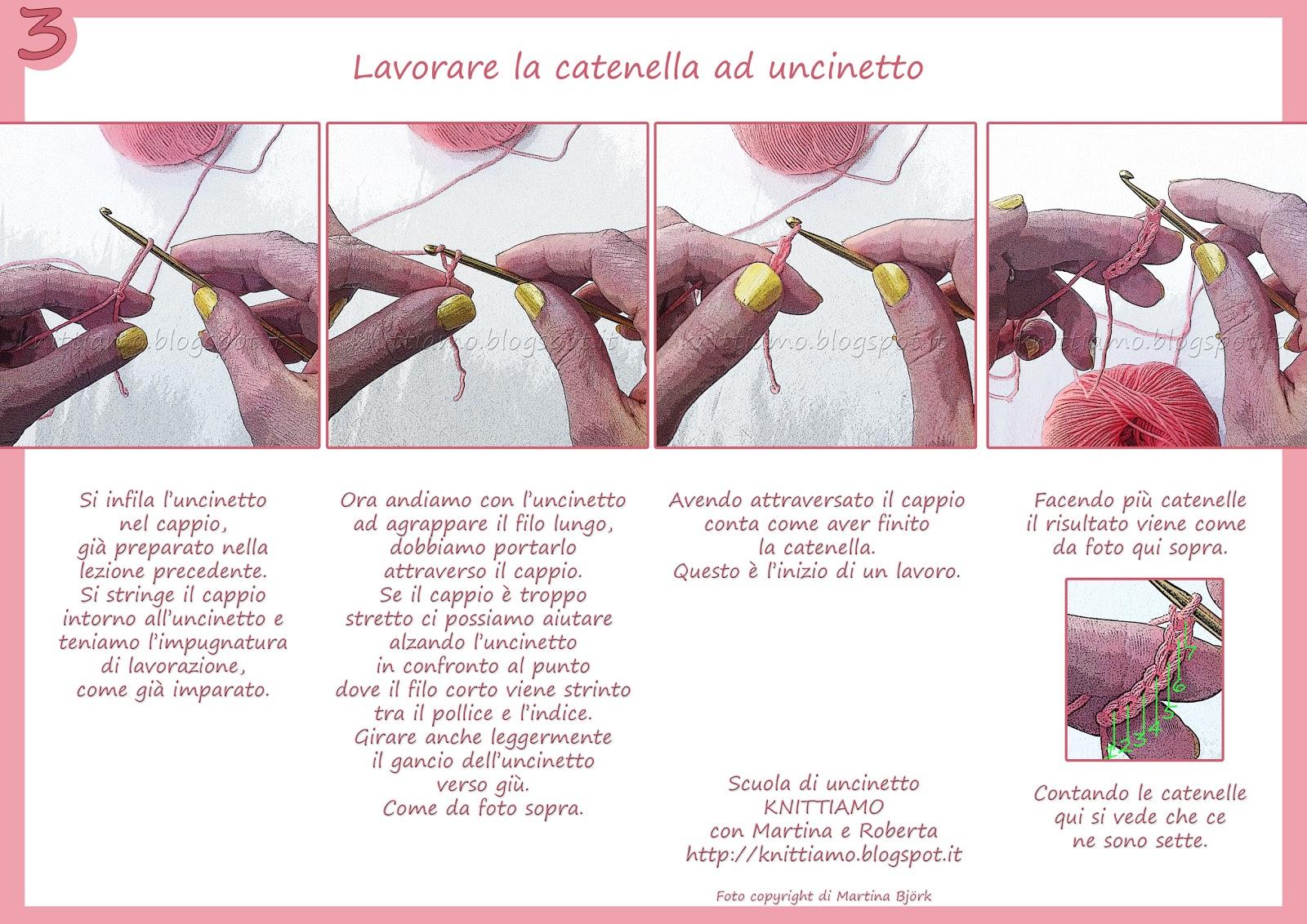 Lezione di uncinetto knittiamo