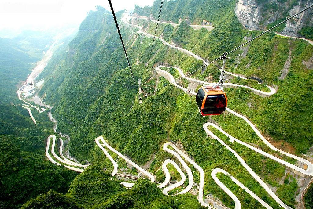 Tianmen Mountain Road, Hunan, China: