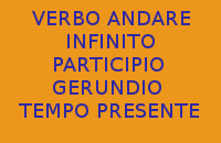 QUAL'È L'INFINITO, IL PARTICIPIO E IL GERUNDIO AL TEMPO PRESENTE DEL VERBO ANDARE NELLA LINGUA ITALIANA ?