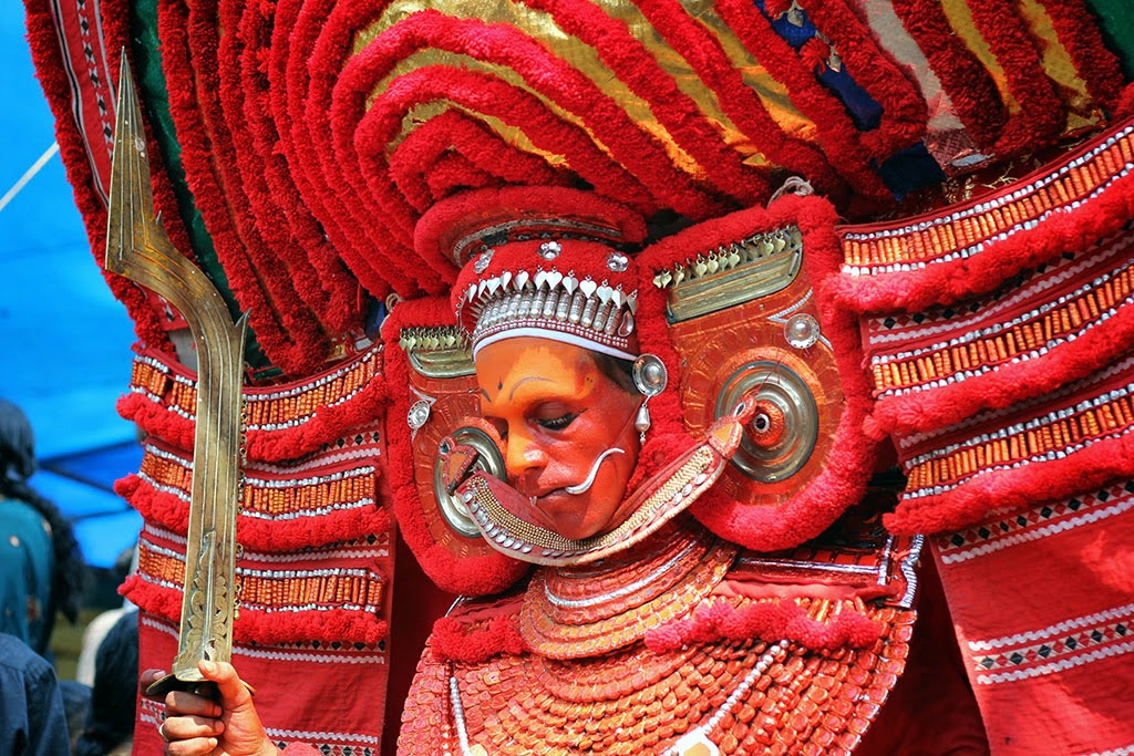 A Theyyam performer in northern Kerala