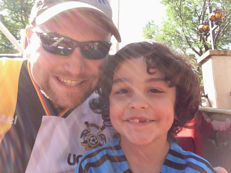 Elijah and dad at Six Flags