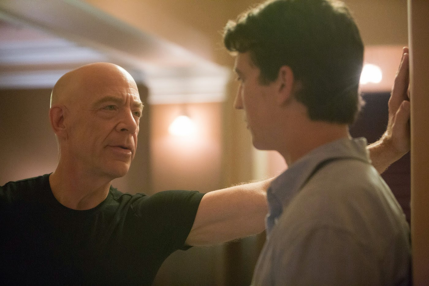 J. K. Simmons and Miles Teller in Whiplash
