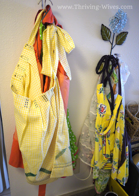 vintage home decor aprons
