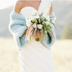 Something Blue Wedding Ideas - Blue Blanket Shawl Shrug