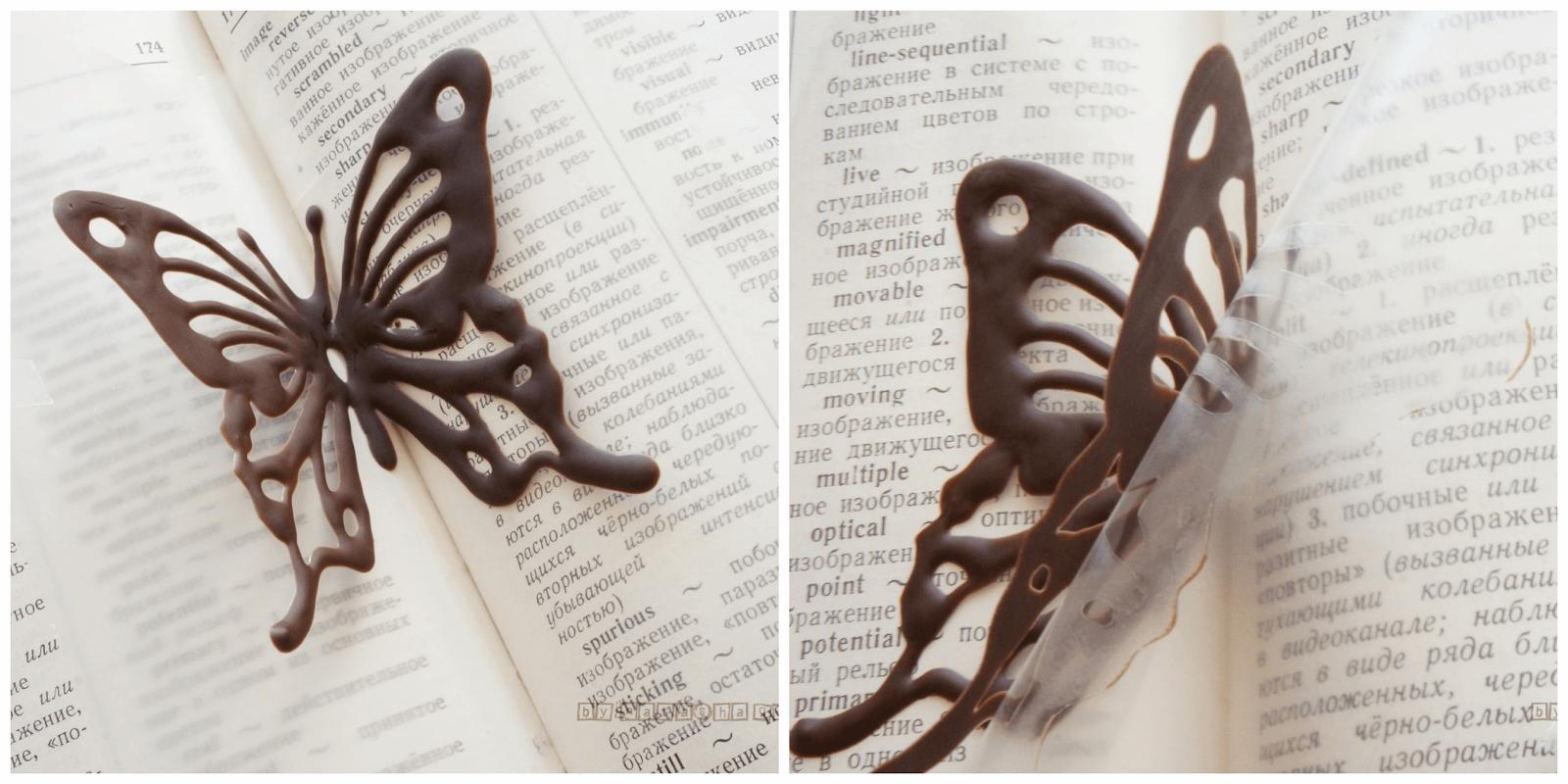 Как сделать бабочки из шоколада фото