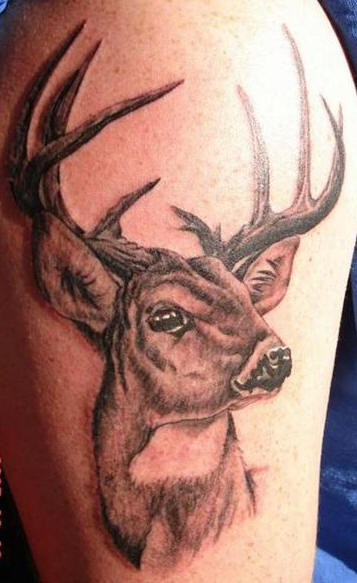 deer head tattoos