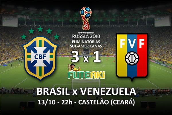 Veja o resumo da partida com os gols e os melhores momentos de Brasil 3x1 Venezuela pela 2ª rodada das Eliminatórias para Copa do Mundo 2018