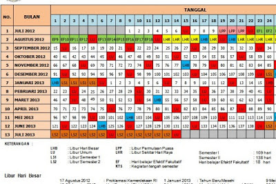 Kalender Pendidikan Tahun Pelajaran 2013/2014