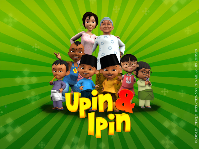 Cover wallpaper image upin ipin cartoon