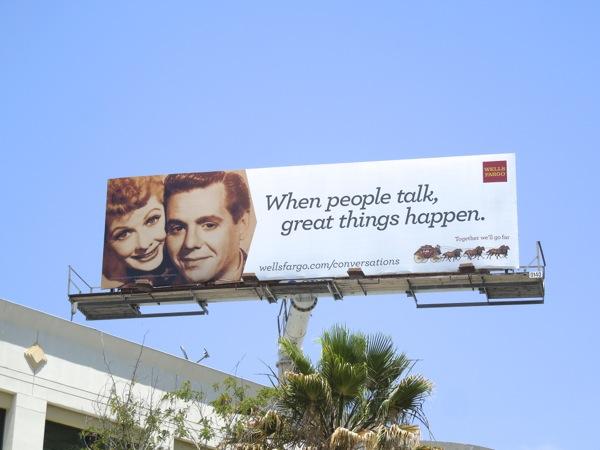 Wells Fargo When people talk billboard