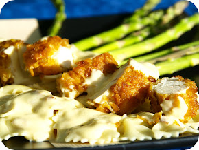 Chicken w/ Italian Cheese Sauce &amp; Bowties