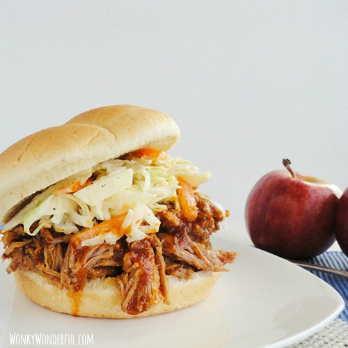 Slow Cooker Apple Barbecue Pulled Pork