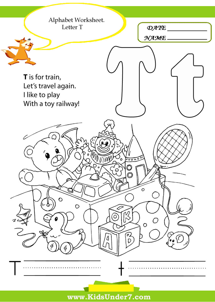 Kids Under 7: Alphabet Handwriting Worksheets A to Z
