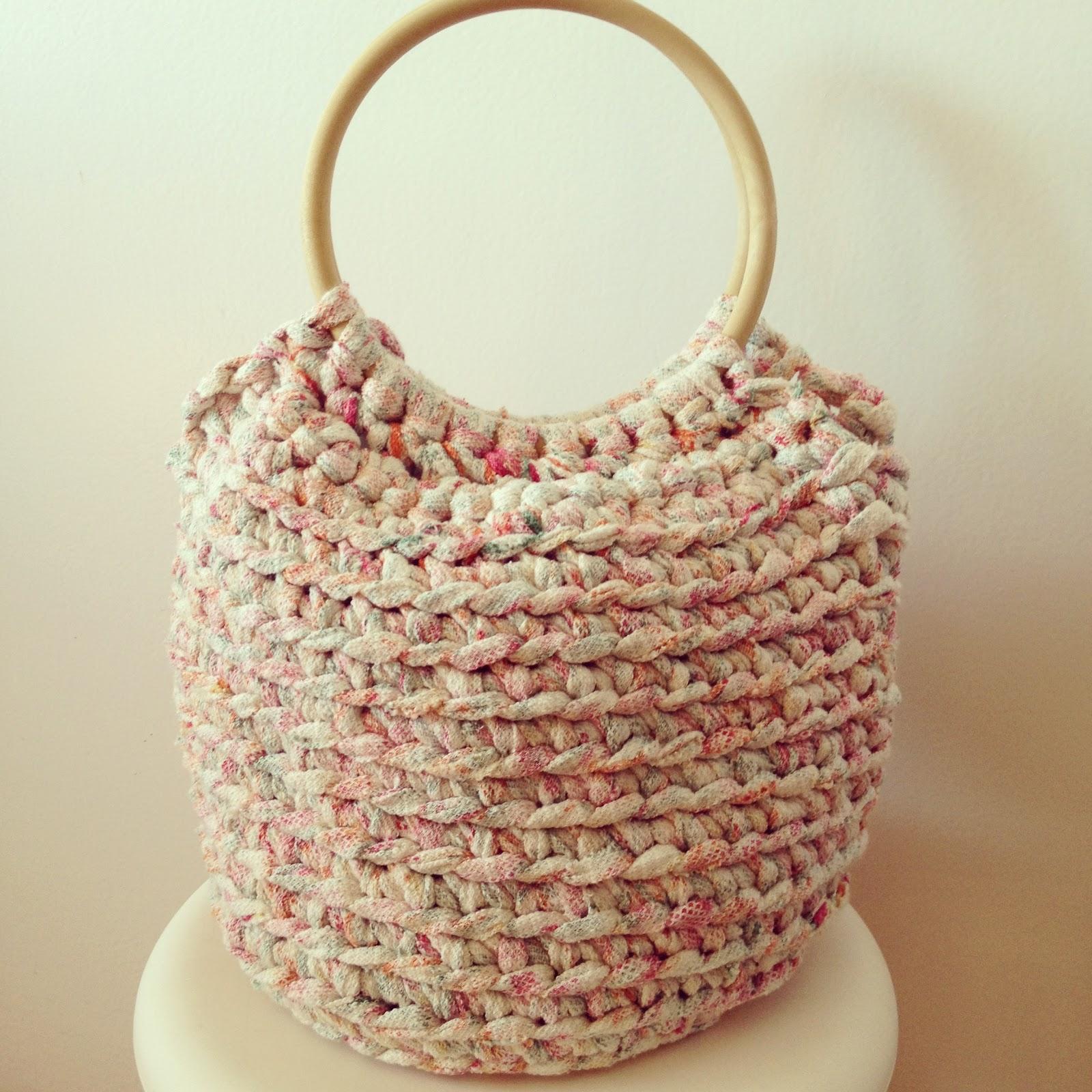 Bolsos de trapillo for Bolso crochet trapillo