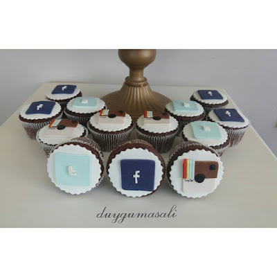 sosyal medya cupcake