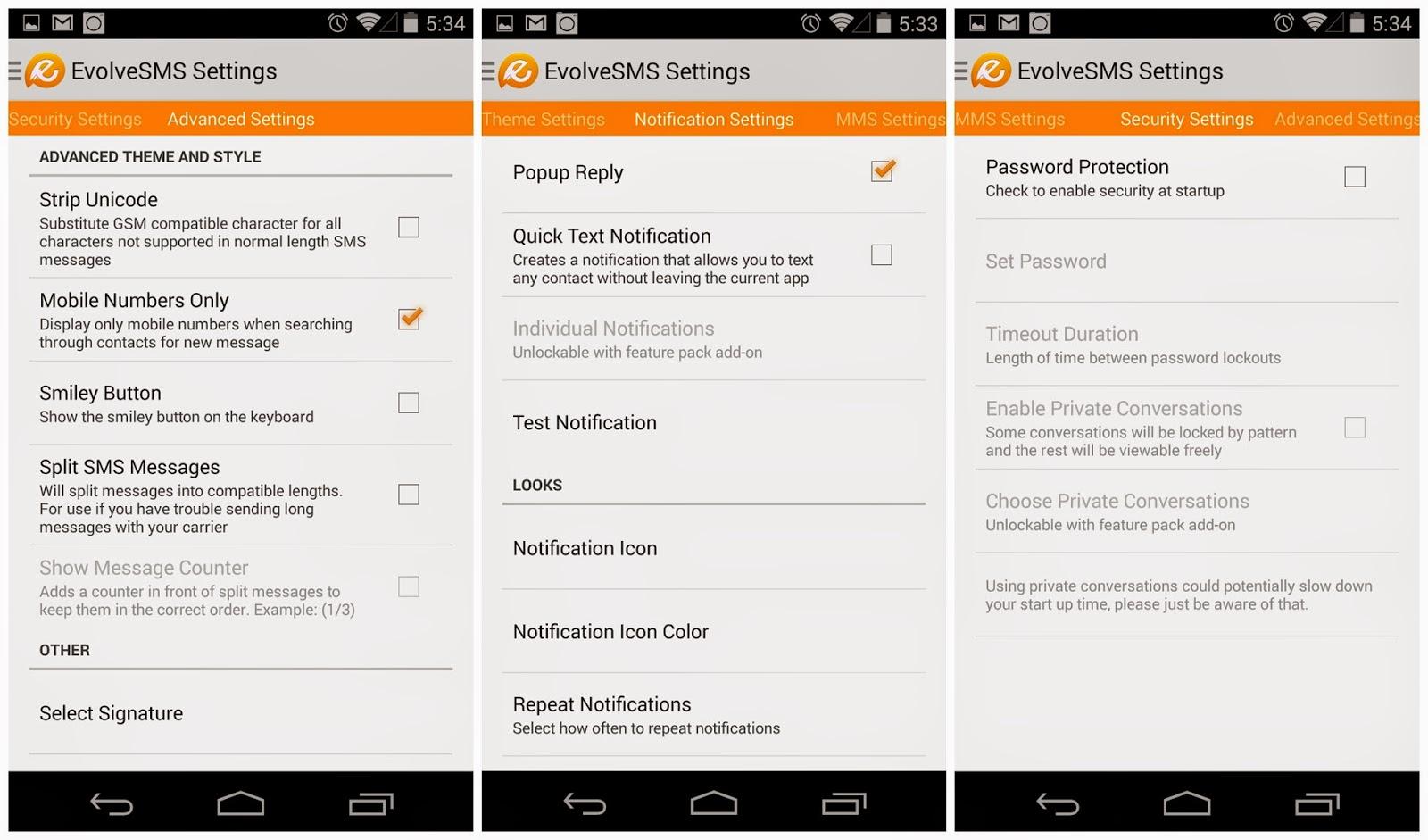Aplikasi SMS Android Terbaik - Evolve SMS