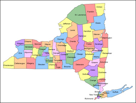 Map Of New York County Area Printable  New York City Map