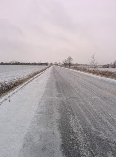 Ice covered road