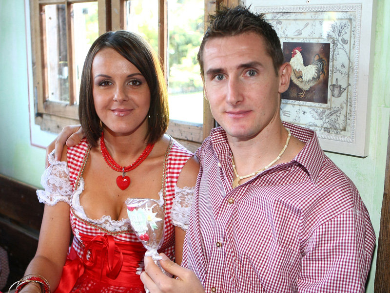 Miroslav Klose with sexy, Wife Sylwia Klose