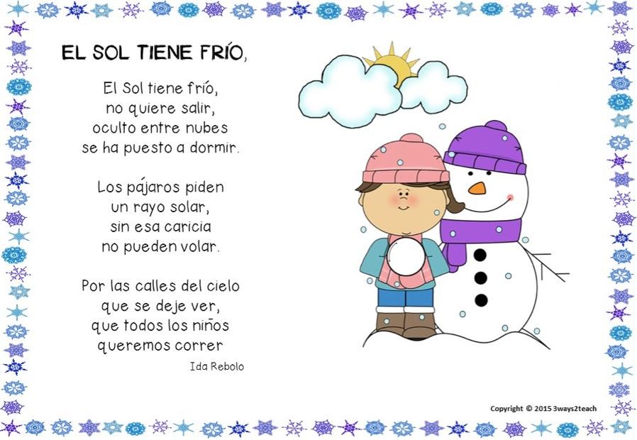 Recursos tic para educaci n infantil aprendemos un poema for Poemas de invierno