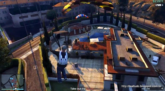 Grand Theft Auto Online Parachute Mission House - Paraqueda Missao Casa