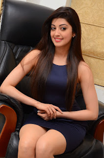 Actress Pranitha Latest Pictures in Short Dress at Dynamite Interview   (18).JPG