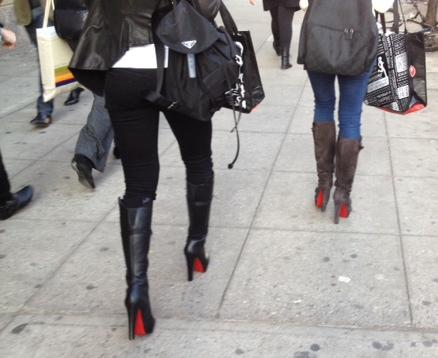 Guess+her+shoe+christian+louboutin+boots+girls+in+nyc+street+fashion+by+he