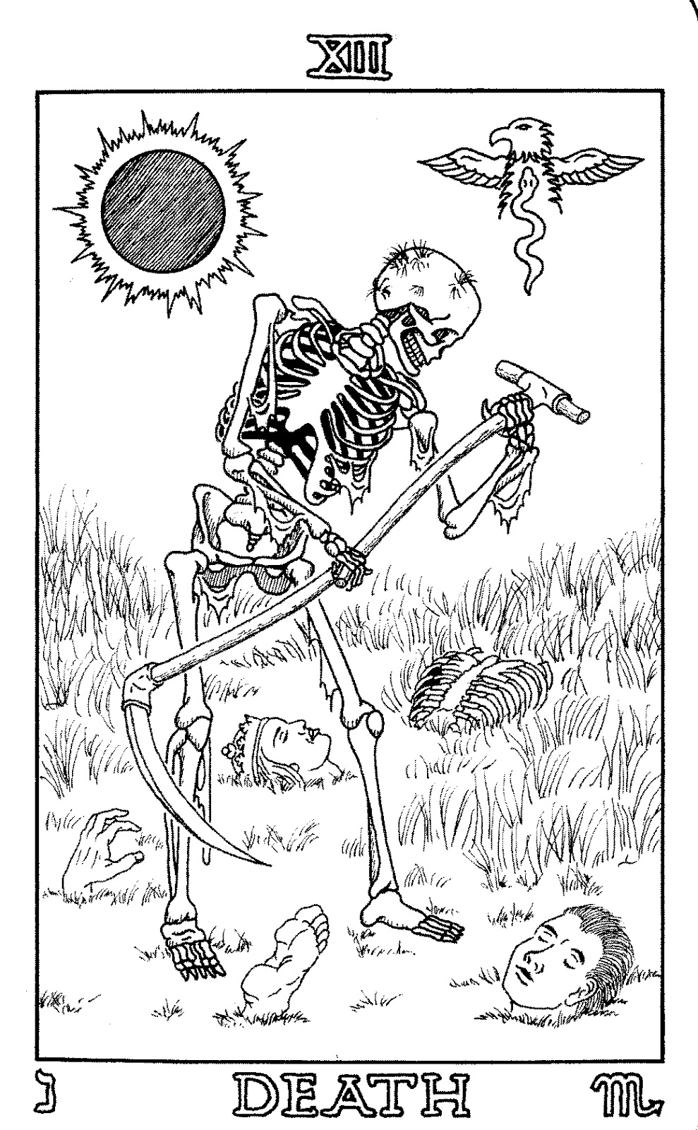 Tarot Deck Coloring Coloring Pages Coloring Pages
