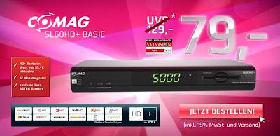 HD+-Receiver ComAG SL 60 HD+ inklusive HD+-Karte für ein Jahr zum Preis von 79 Euro