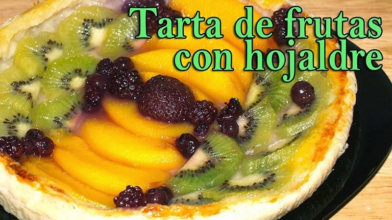 tarta de frutas con hojaldre