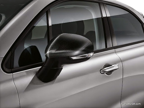 Fiat 500X Carbon Fiber Mirror Cap