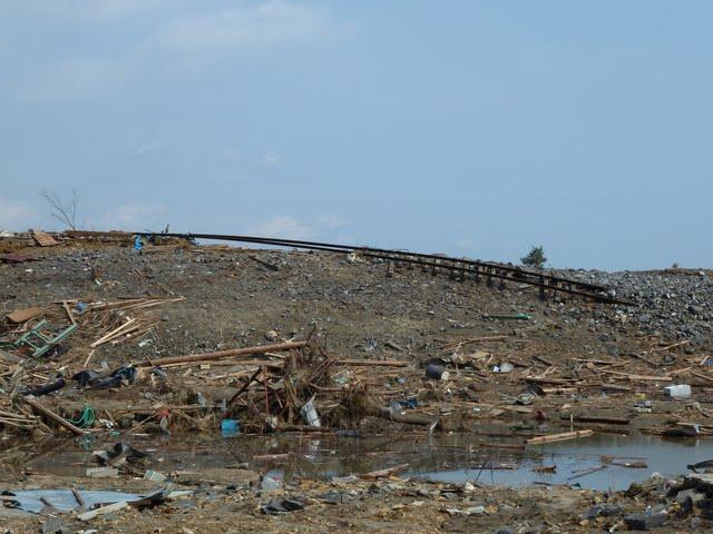 気仙沼線 津波の被害状況 陸前小泉駅