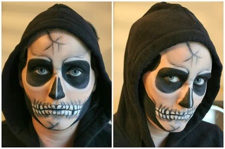 MuyVariado.com: Caras Pintadas para Halloween, Diseño Calavera