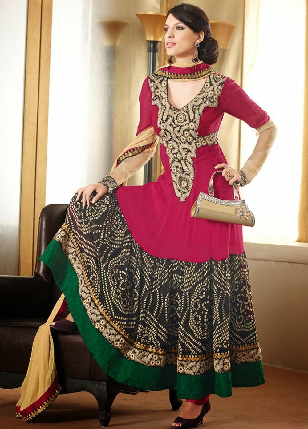 Designer salwar kameez anarkali style 2014