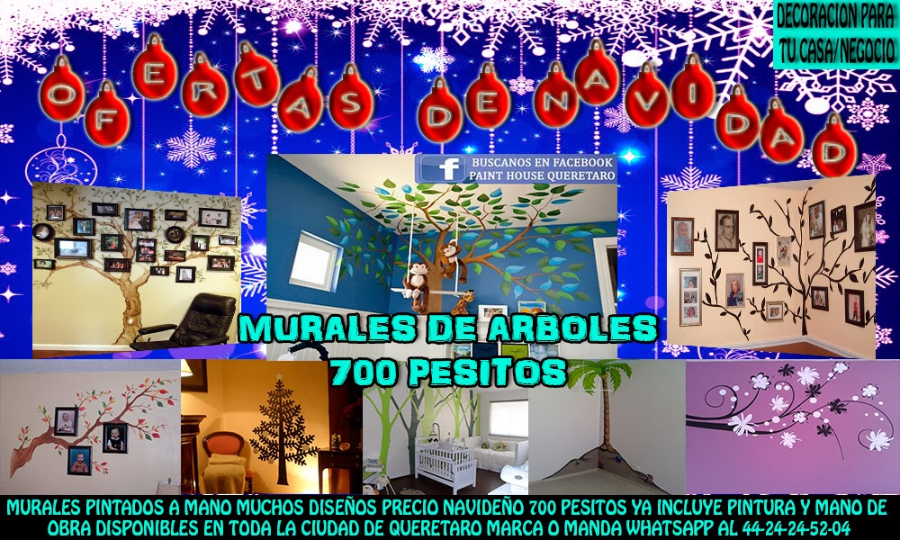 Paint house quer taro murales decorativos queretaro - Murales decorativos de navidad ...