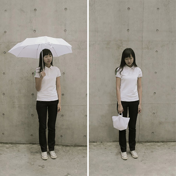 30 Insanely Clever Innovations That Need To Be Everywhere Already - The Inside-Out Umbrella