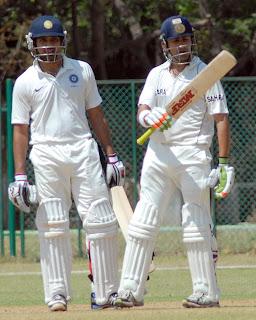 Rohit-Sharma-and-Gautam-Gambhir-put-on-128-runs-for-the-second wicket-India-A-v-Australians-Tour-game-Day-1-Chennai-February-16-2013