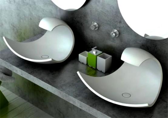 ideias para decorar Decoração para Banheiros Pias 2013