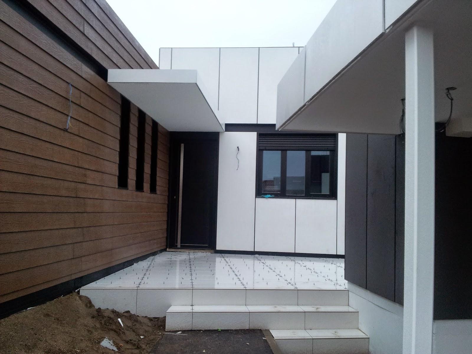 Detalle entrada vivienda modular Resan