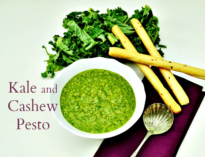 Vegan kale and cashew pesto