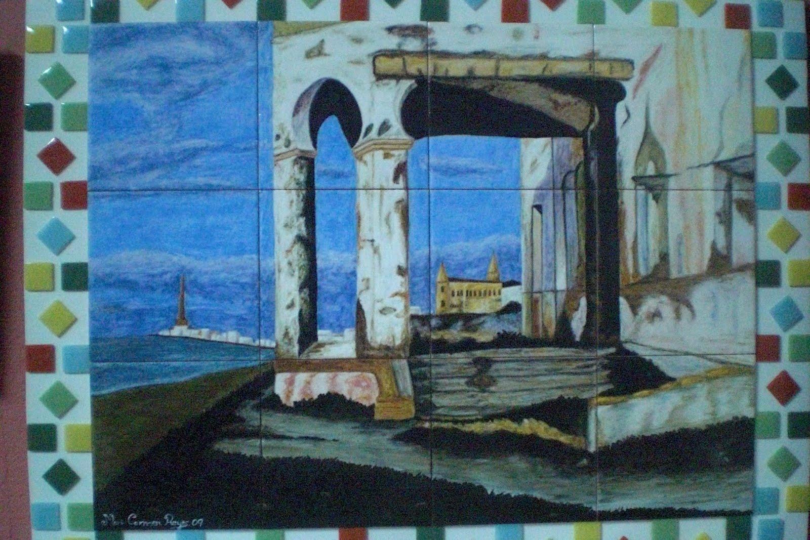Espacio vac o chipiona murales de azulejos y leos - Murales de azulejos ...