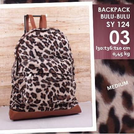 jual online Tas Backpack Mini Murah Corak Leopard