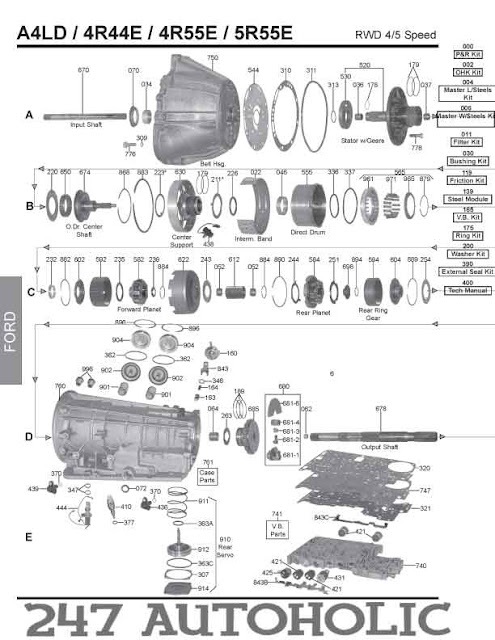 1993 ford e4od transmission diagram