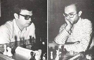 Los ajedrecistas Juan Carlos Menéndez y Ricardo Calvo