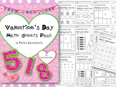 https://www.teacherspayteachers.com/Product/Valentines-Math-Sheet-Pack-10-Fun-Maths-Worksheets-Activities-1643658