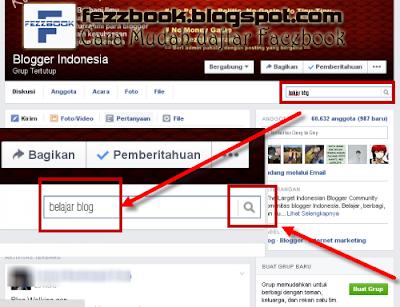 cara cepat mencari kata kunci di grup facebook